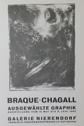 Braque - Chagall Exhibition Poster Print