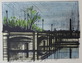 Le Pont De La Concorde - Bernard Buffet