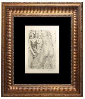 Odele Et Grand Sculpture De Dos - Picasso