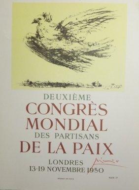 Congres Mondial De La Paix - Picasso