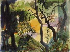 Watercolor Painting By Robert Ellis
