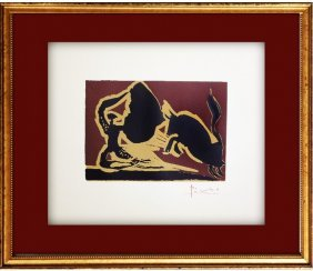 Bull Charging Cape - Pablo Picasso