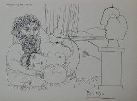 Le Repose Du Sculpteur, - Pablo Picasso