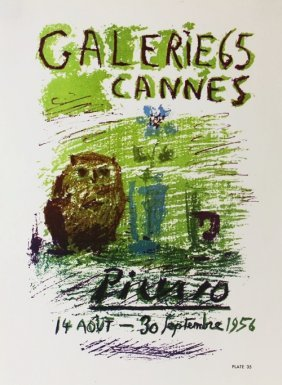 Galerie Cannes 1956 By Pablo Picasso