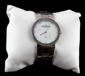 Skagen Stainless Steel Mens Wristwatch Swarovski