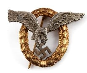 GERMAN WWII LUFTWAFFE PILOT OBSERVER BADGE
