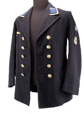 385 Wwii Kriegsmarine Nco Pea Coat With Staff Badge Lot 385