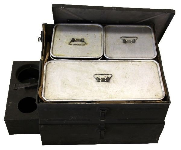 Wwii Field Kitchen Stove With Original Cook Pans Lot 1174