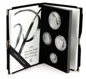 1999 AMERICAN EAGLE PROOF PLATINUM 4 COIN SET