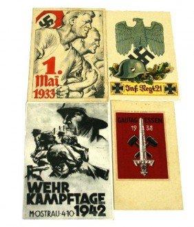 WWII GERMAN PROPAGANDA RARE POSTCARD LOT OF 4