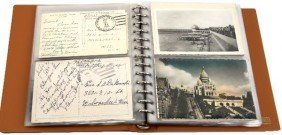 POSTCARD BINDER OVER 100 WWII MILITARY & CIVILIAN