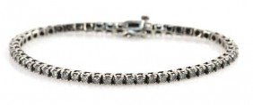 LADIES DIAMOND TENNIS BRACELET 3.4 CTW