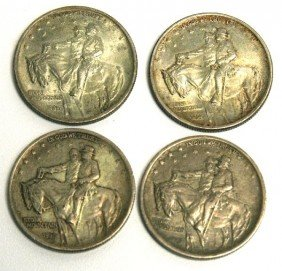4 SILVER STONE MOUNTAIN 1925 COMMEMORATIVE COINS