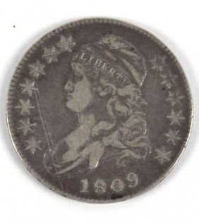 1809 CAPPED BUST HALF DOLLAR VF