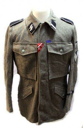 REENACTOR SS NCO TUNIC WWII THIRD REICH
