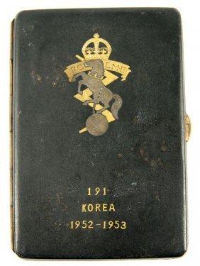 ROYAL CANADIAN E.M.E. 191 KOREA CIGARETTE CASE