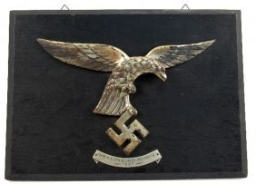 THREE NAZI GERMANY LUFTWAFFE EAGLE WALL PLAQUES