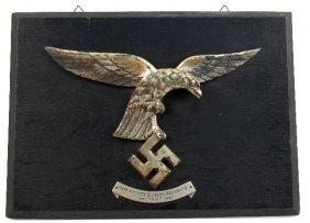 THREE NAZI GERMANY LUFTWAFFE EAGLE WALL PLAQUES
