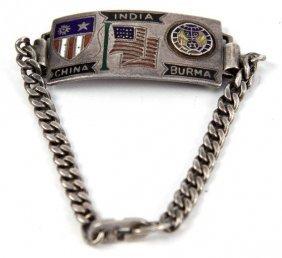 WWII US CBI SILVER BRACELET 20TH AIR FORCE