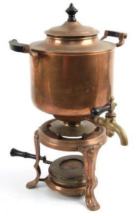 Brass Manning Bowman Coffee Percolator Lot 7081