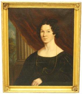 VICTORIAN ERA PORTRAIT OF A LADY CLASSICAL REVIVAL
