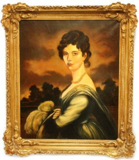 FRAMED 19TH CENT PORTRAIT OF A LADY BY J. GILBERT