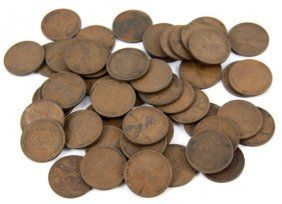 50 COIN ROLL OF 1909 VDB LINCOLN WHEAT CENTS