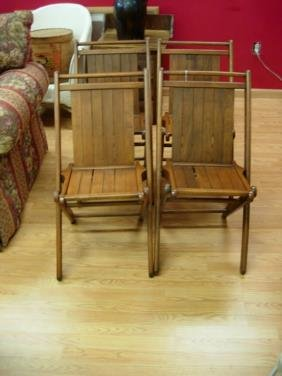 at home furniture 10129 antique oak folding chair lot of 4 peerless tuck 10129