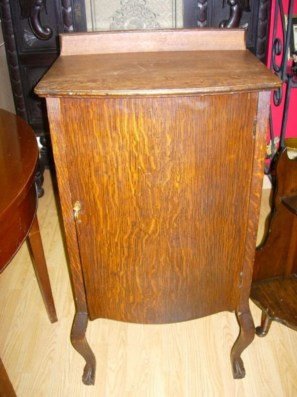 antique oak sheet music cabinet 1