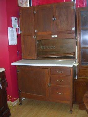 10094 Antique Hoosier Cabinet 1918 Pat Napanee Dutch