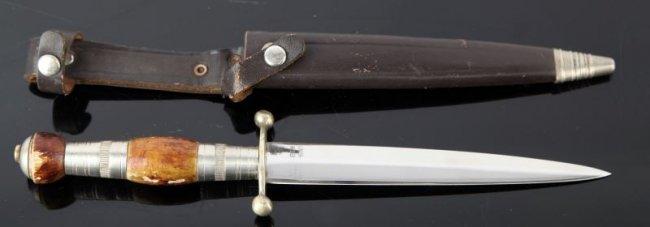 stiletto knife linder messer solingen germany lot 9288. Black Bedroom Furniture Sets. Home Design Ideas