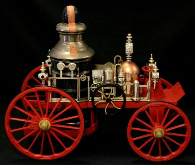 Jim Beam 1867 Mississippi Steam Pump Fire Engine Lot 2013
