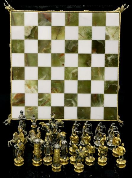 Vasari chess set hand crafted reproduction lot 8142 for Hand crafted chess set