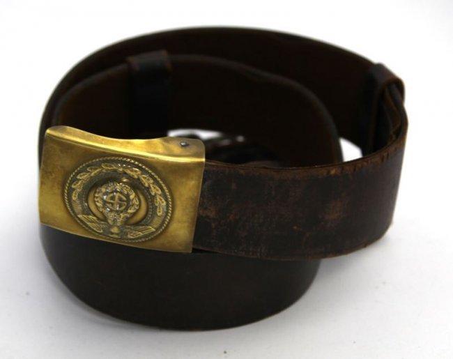 wwii sam browne shoulder belt w nsdap belt buckle lot 5376
