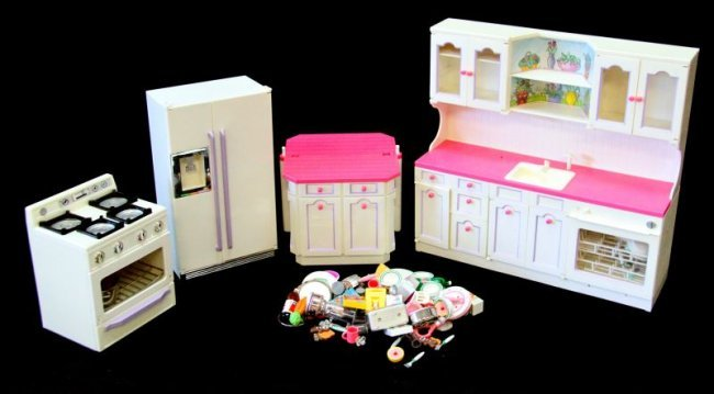 1996 Tyco Kitchen Littles Lot For Barbies Lot 4384