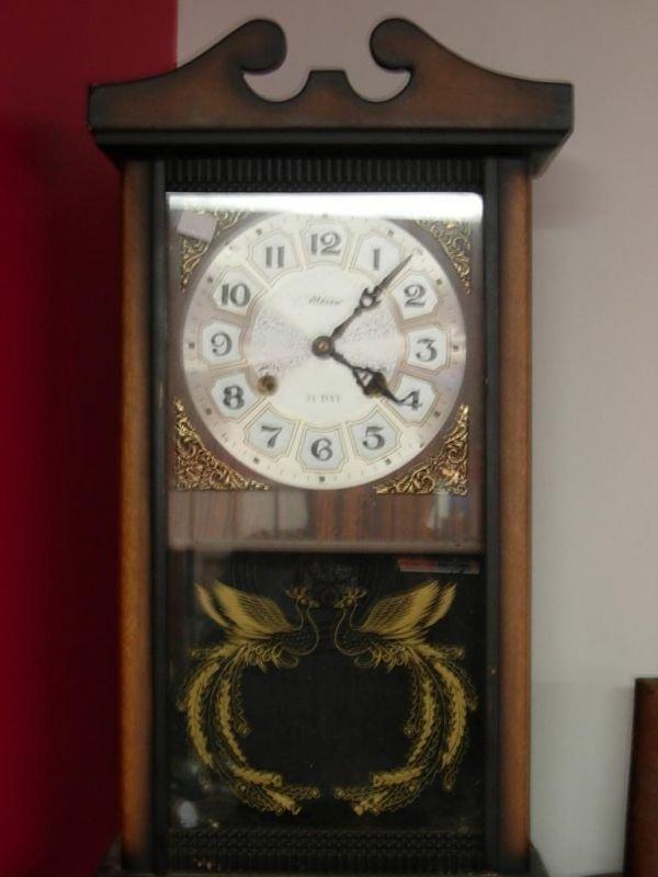 448 antique pendulum wind up wall clock alaron 31 day