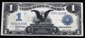 1899 Black Eagle $1 Silver Certificate Note