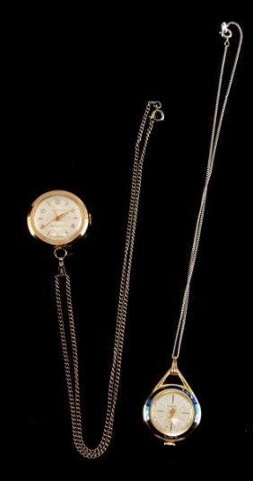 Small Lot Of Two Ladies Vintage Pendant Watches
