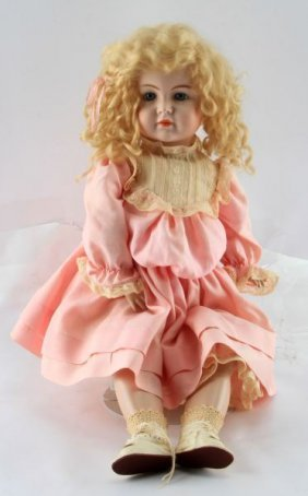 Simon Halbig K&r Bisque Head Socket Doll 20 Inch