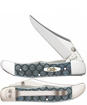 Case Smooth Gray Bone Chainlink Mid Folding Knife