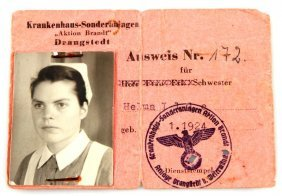Wwii Third Reich German Aktion Brandt Id Document