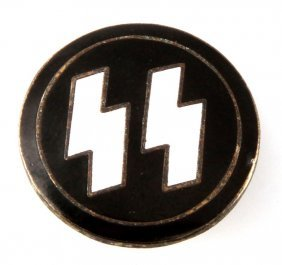 Wwii German Third Reich Ss Party Pin