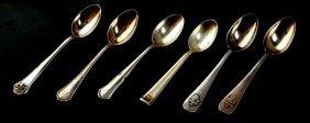 6 Third Reich Demitasse Spoons Braun Goring
