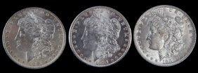 1881 O 1881 S 1882 O Bu Morgan Silver Dollar Lot