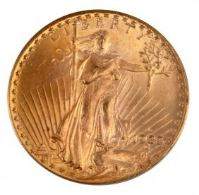 1923 D St Gaudens Double Eagle Gold Coin Ms 65