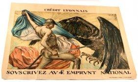 Wwi French Propaganda Poster Faivre Original