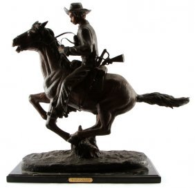Frederic Remington Trooper Of The Plains Bronze