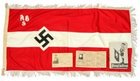 Third Reich Hitlery Youth Flag, Book, Document