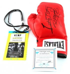 Boxing Glove Signed By Pacquiao And Bradely W/ Coa