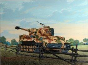 Ray Waddey Tiger I Hunting Soviet Armor Painting